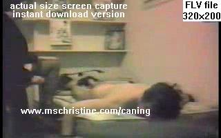 Caning video still - actual size